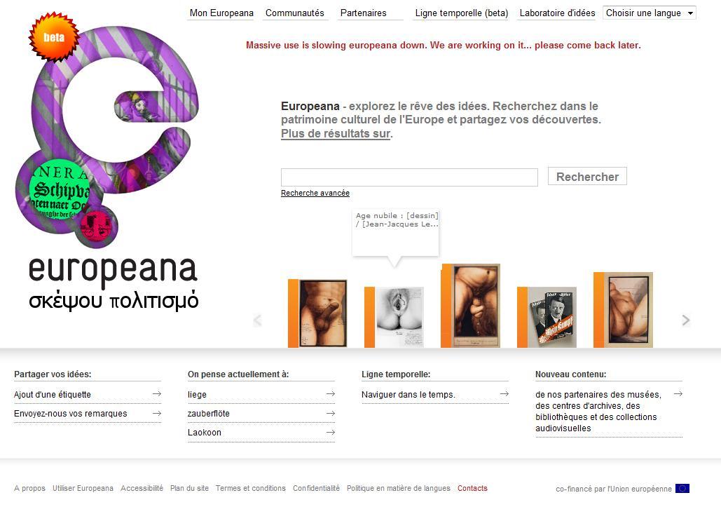 Les requêtes les plus fréquentes du site Europeana