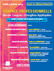 Journée professionnelle de la traduction à l'Université d'Evry